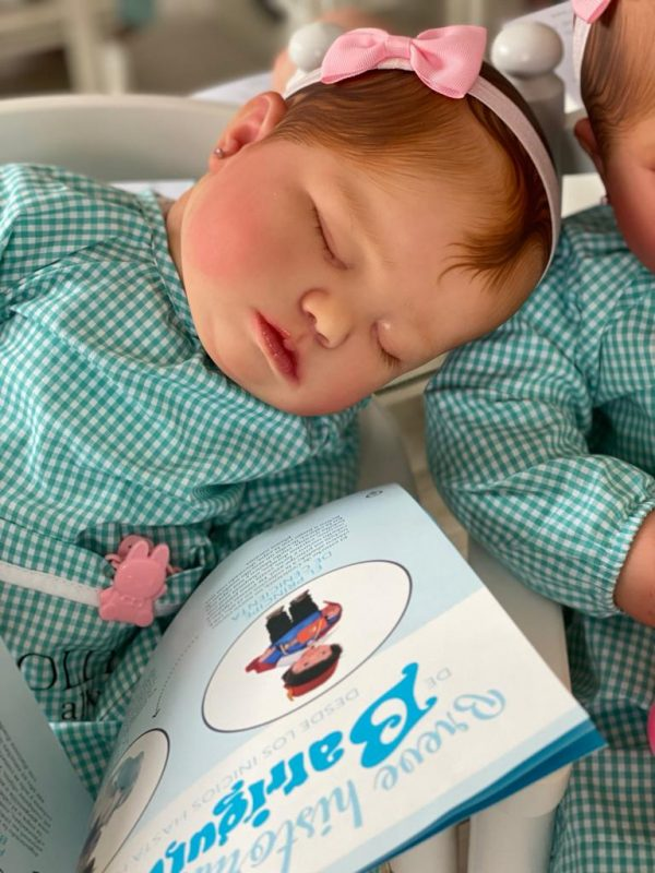 June 7 meses dormida Bebes Reborn Dolly Alive